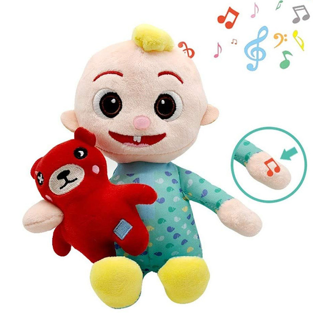 JJ Cocomelon Toy Musical Bedtime Soft Plush Doll For Baby Music Barbie Doll Family Kids Toys Birthday Gift Anime Plushie 4