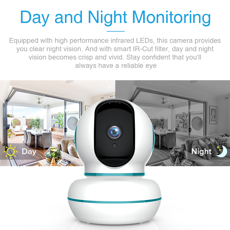 FREDI 1080P Cloud IP Camera Home Security Camera Auto Tracking of Human Surveillance Camera Wireless WiFi Network CCTV Camera