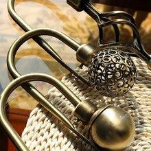 2 шт полый цинковый сплав шаровой формы крюк для занавесок бытовой U тип крюк для занавесок оконные аксессуары для занавесок