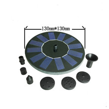 Mini Solar Powered Fountain Water Fountain Pool Pond Floating for Bird Bath Patio Landscape Outdoor Garden Decoration
