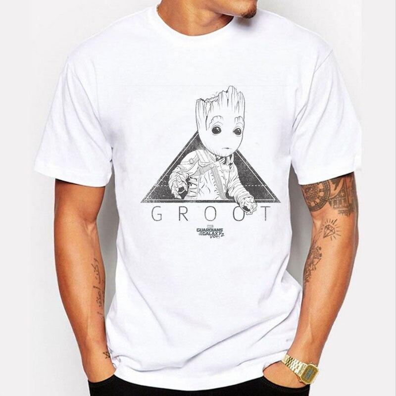 õTop SaleMale Tops Groot Funny t-Shirt Movie Streetwear Men Summer Superhero Print Casual GraphicÕ