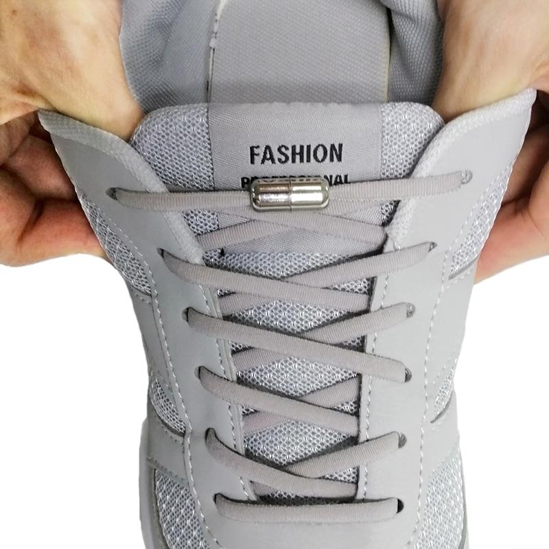 TILUSERO New Elastic Shoelaces Metal Capsule Button No Tie Shoe Laces