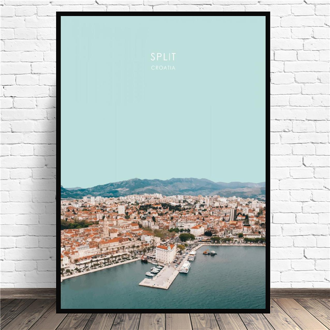 View Of Split Croatia Art Print Home Decor Wall Art Poster