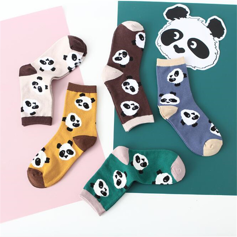 New Cartoon Cute Panda Socks Women Fashion Funny Harajuku Socks Autumn Winter Novelty Warm Tube Socks For Girl Female Meias