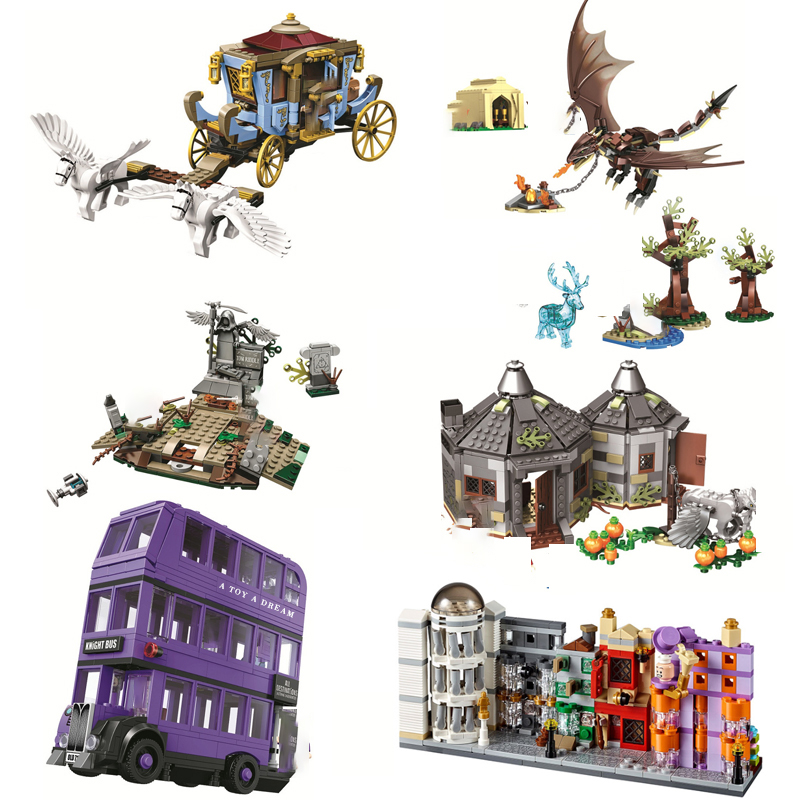 Lepining 75945 75946 75957 75958 75965 Harri Magic Worlds Hogwartinglys Clock Tower Great Hall Harri Building Block Bricks Toy