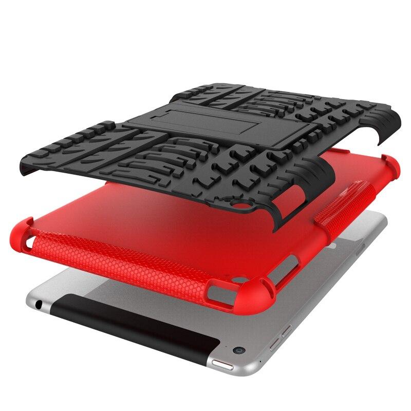 Купить с кэшбэком Defender Stand TPU PC Shockproof Protective Silicone Plastic Armor Back Cover Case For iPad 6 iPad Air 2