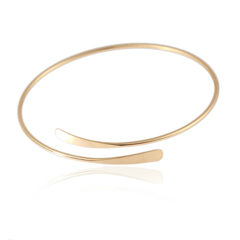Fashion ladies <font><b>bracelet</b></font> adjustable <font><b>opening</b></font> <font><b>bracelet</b></font> gold silver simple atmosphere jewelry wild adjustable statement <font><b>bracelet</b></font> image