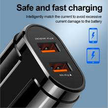Be applicable CUBOT Mobile phone Quick charger,US EU QC3.0 charging head, two USB Quick charging, travel charger(China)