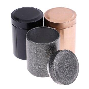 3 colors Portable Stash Jar Seal Spice Organizer Storage Mini Tea Can Smell Proof Container Metal Herb Stash 4.5cm*6.1cm