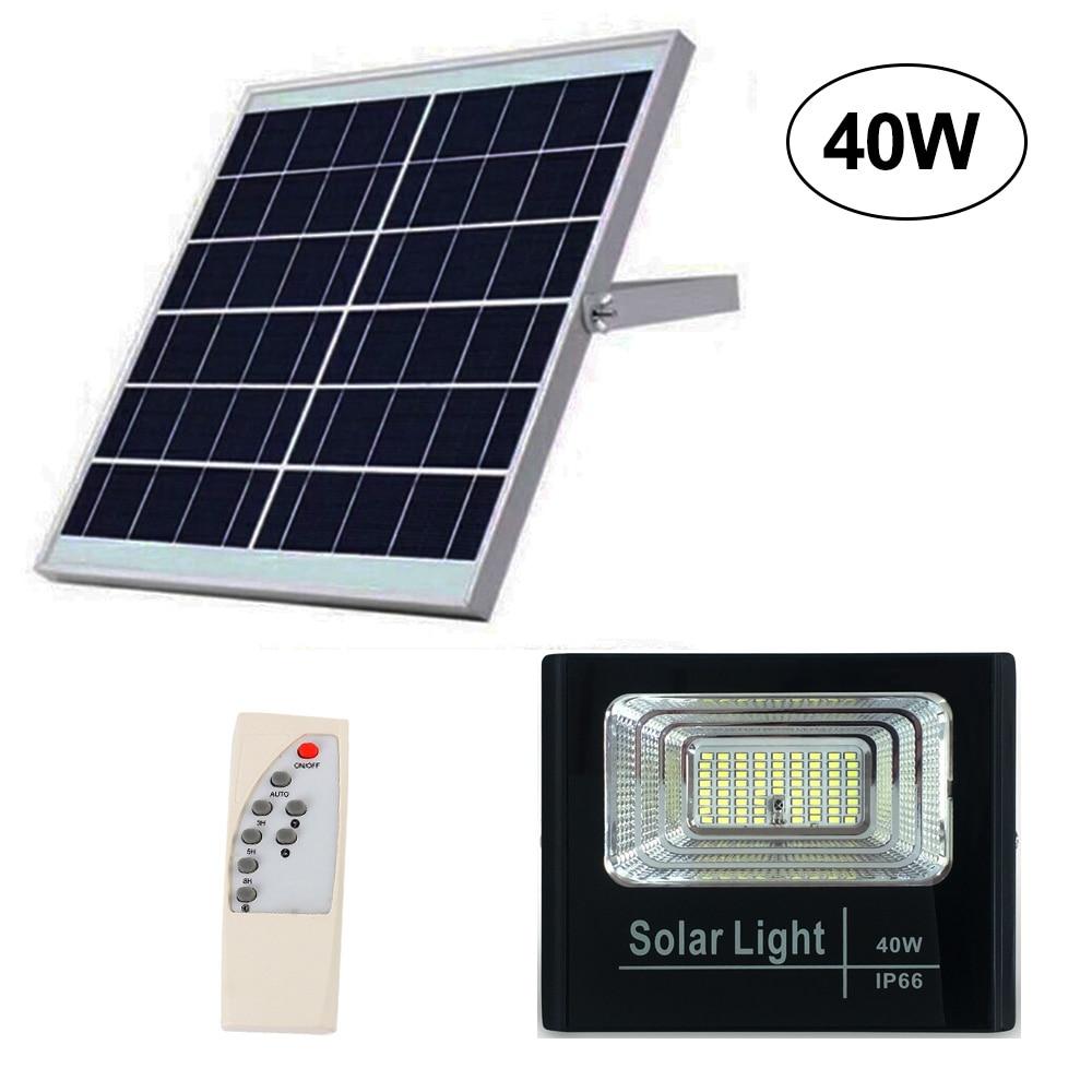 Solar Light Floodlight 25W 40W 60W 100W 200W Spotlight IP66 White Auto LED Solar Lamp Outdoor for Garden Street Garage Park