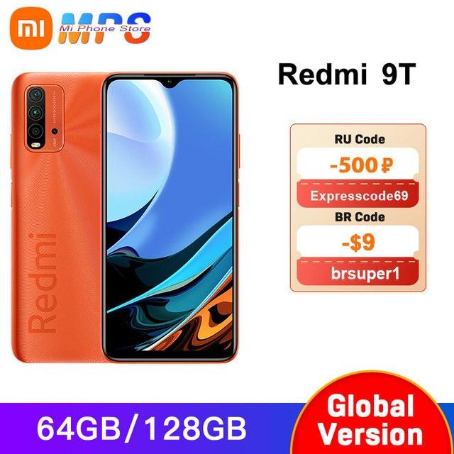 Global Version Xiaomi Redmi 9T 4GB 64GB /4GB 128GB / 6GB 128GB smartphone Snapdragon 662 48MP Rear Camera 6000mAh Non NFC 1