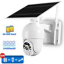 Wifi câmera ip ao ar livre 3g 4g cartão sim câmera de segurança em casa 1080p cctv câmera sem fio ptz pir cor visão noturna 30m