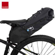 Sahoo 7L Full Waterproof Dry Bike Bag MTB Road Cycling Bicycle Saddle Bag Seat Tail Rear Pack Storage Pouch Carrier For Bike easydo waterproof bicycle bike saddle bag cycling back rear seat bags pouch mtb road bike bag accessories bicycle storage bag