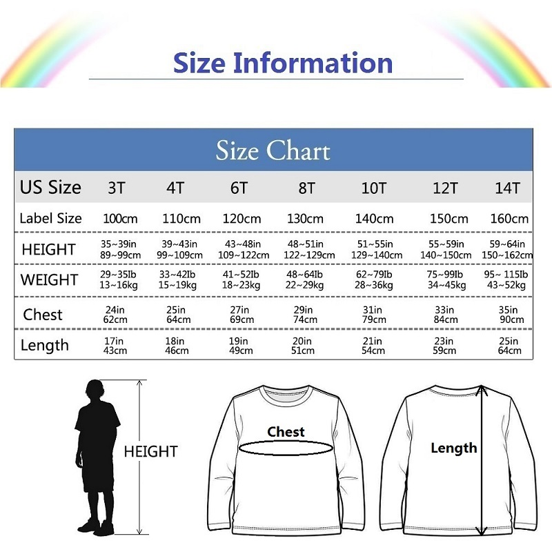 Boy Cartoon 3D T Shirt Totoro Print Kids New Tops Cotton Long Sleeve Baby Girl Clothes Tees 3-14T Tshirts 6