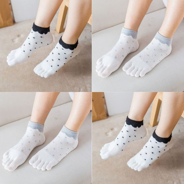 Female Spring / Summer Mesh Breathable Cotton Socks