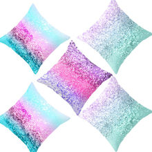 Home Sequin Glitter Throw Sofa Cushion Cover Decor Polyester Pillow Case Cover Decorative Pillowcase gold leaves print pillow cover home cotton pillowcase cushion cushion decorative cushions for sofa seat covers throw pillow case
