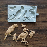 3D Flamingo Bird Silicone Mold Cake Chocolate Candy Fondant Candle Soap Moulds Jelly Clay Wedding Decoration DIY Baking Tool