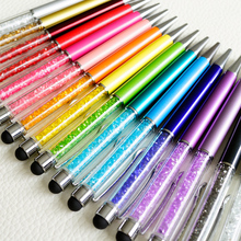 Wholesale 20 Pcs/lot High texture Crystal Stylus Pen Capacitive Screen Touch Pen For iPhone support logo print