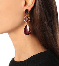 Timeless Wonder Amazing Crystal Cut Clip Earings Ear Cuff Women Jewelry Punk Runway Non Pierced Gothic Boho Gown Red Blue 4327(China)