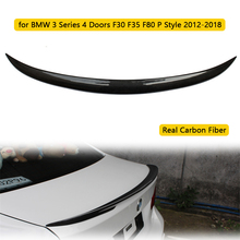 цена на Car Rear Spoiler Wing Real Carbon Fiber for BMW 3 Series 4 Doors F30 F35 F80 P Style 2012-2018 Carbon Rear Wing Spoiler Tail Lip