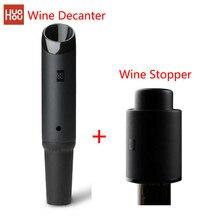 최신 Huohou 빠른 와인 디켄터/와인 스토퍼 2in1 쏟아져 도구 스테인레스 스틸 진공 병 스톱퍼 병 캡 바 Accessori