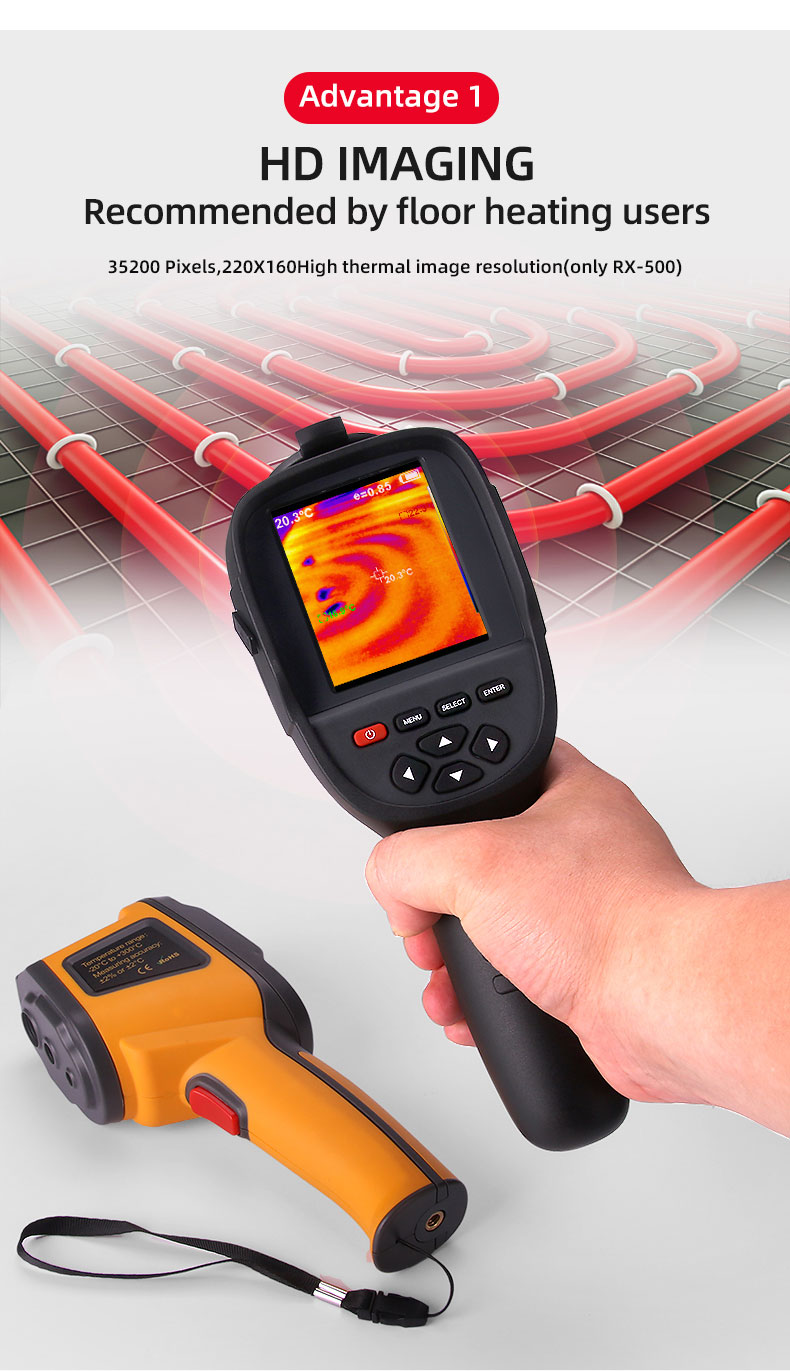 Digital Thermal Camera With A USB Cable Connected To Display For Temperature Measuring 22