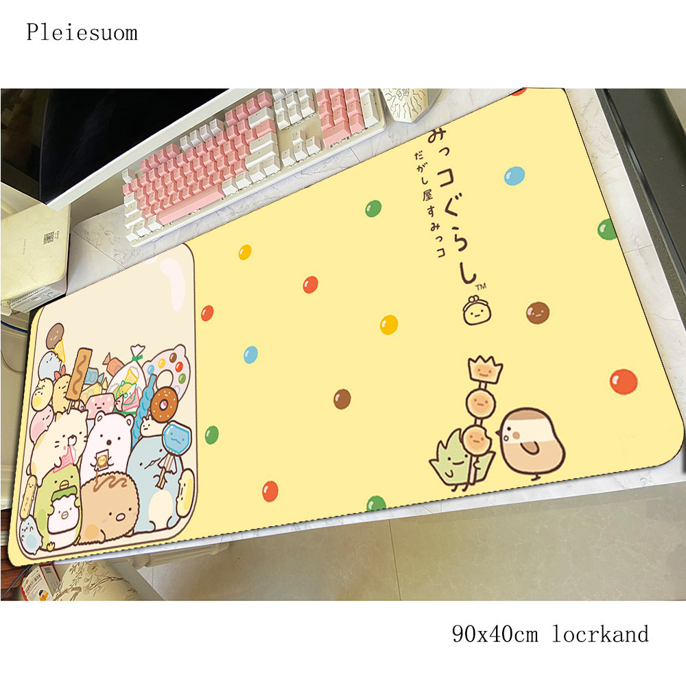 kawaii mousepad best gaming mouse pad 90x40cm pc computer gamer accessories large mat Christmas gifts laptop desk protector pads