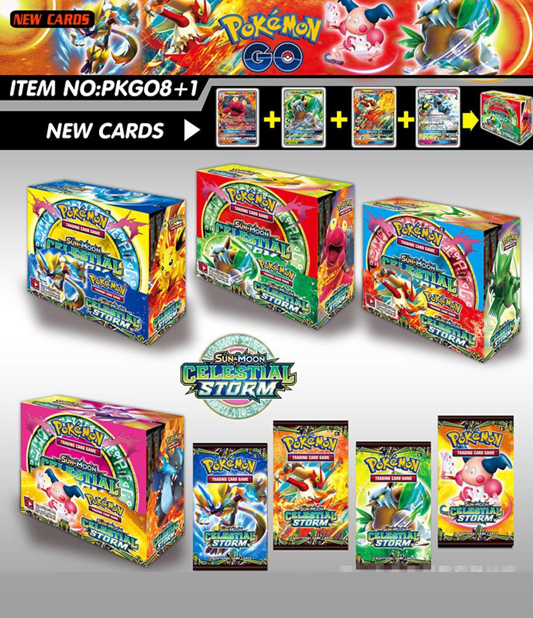 New 324pcs/box Pokemon Cards TCG: Sun & Moon Celestial Storm 36-Pack Booster Box Trading Card Game Kids Toys