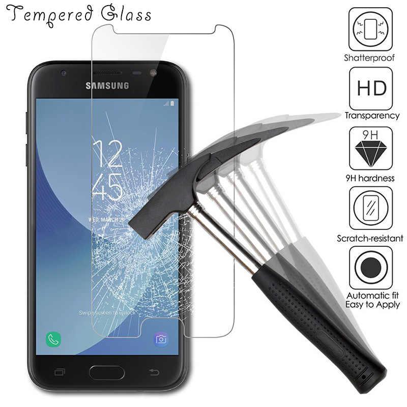 9H الزجاج المقسى لسامسونج غالاكسي S5 S6 S7 الزجاج حامي الشاشة HD فيلم واضح لسامسونج A3 A5 2016 J5 J7 2017 الزجاج