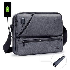 Image 1 - ICozzier Multiuso/Multi Spazio Borsa con tracolla Accessori Elettronici Dellorganizzatore di Immagazzinaggio Sling Messenger Bag per iPad, Ombrello,