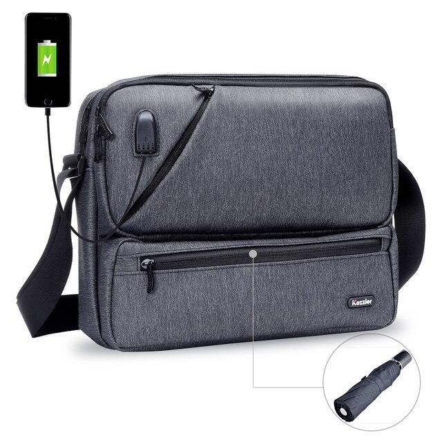 ICozzier Multiuso/Multi Spazio Borsa con tracolla Accessori Elettronici Dellorganizzatore di Immagazzinaggio Sling Messenger Bag per iPad, Ombrello,