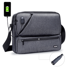 Iozzier multiusos/Multiespacio bolsos cruzados accesorios electrónicos organizador almacenamiento Sling Messenger Bag para iPad, paraguas,
