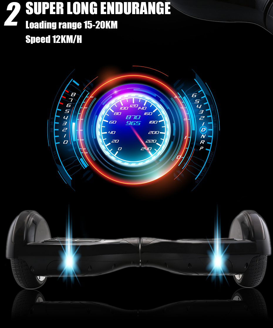 IScooter Hoverboard Gyroscooter 6.5Inch Kids Two Wheels Self Balancing Smart Electric Wheel Light Bluetooth Skateboard With Bag