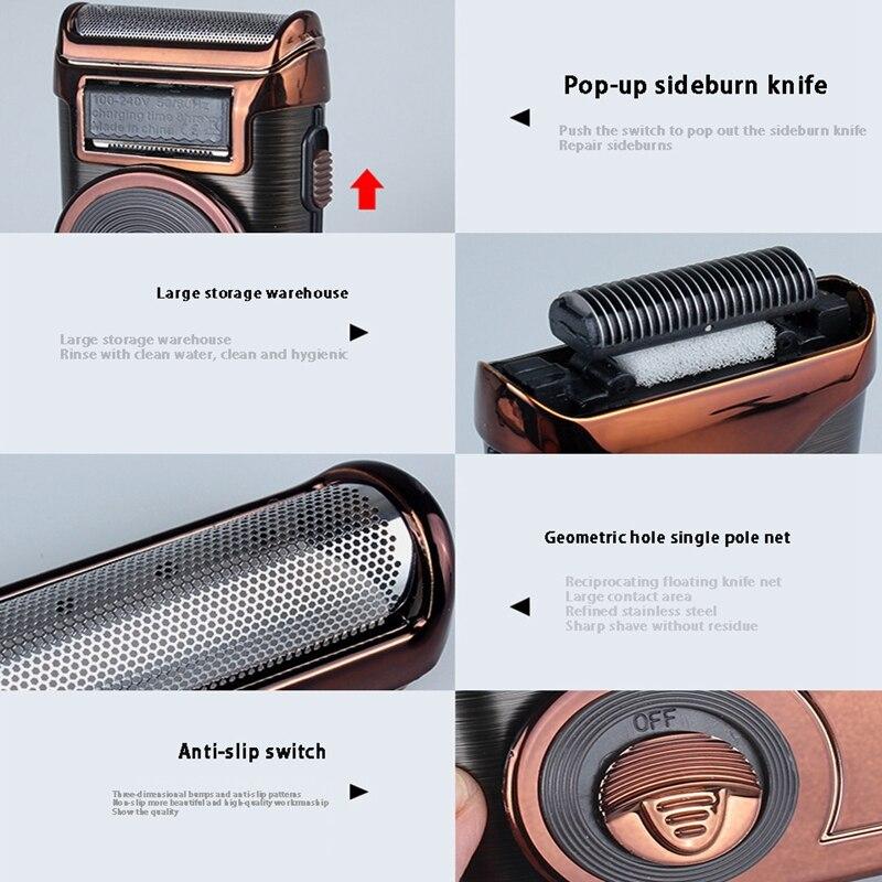barbeador eletrico portatil mini aparador de barba 04
