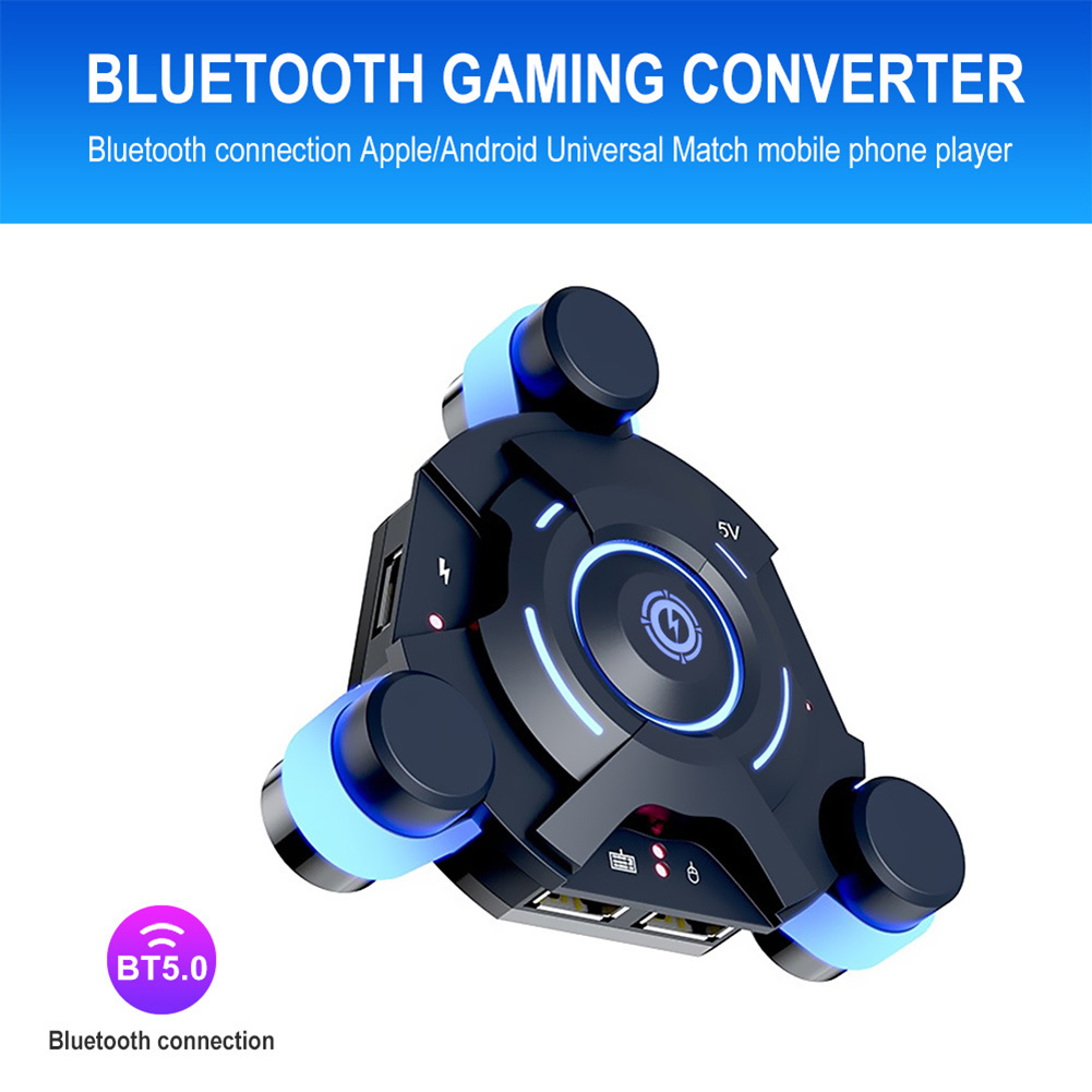 New Bluetooth Gaming Keyboard Mouse Converter Game Adapter For IOS Android System DOM668