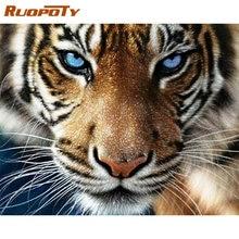 Ruopoty diy картина по номерам тигра животных Расписанная вручную