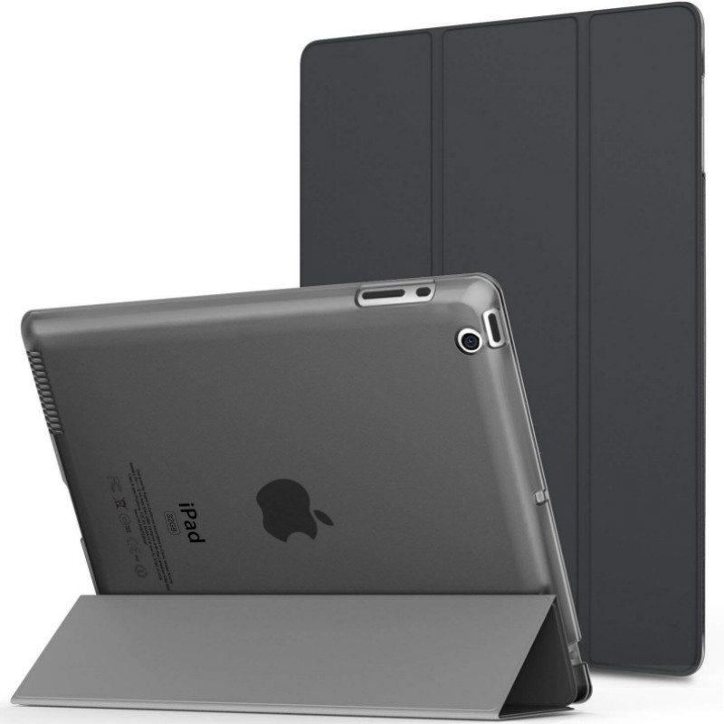 For iPad 2 Case Model A1395 A1396 A1397 Lightweight Shell Translucent Frosted Back Cover for iPad 234 Retina DISPLAY Awake/Sleep image