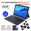 For Huawei Mediapad M5 Lite 10 Keyboard Case 10.1'' Tablet BAH2-W09 BAH2-L09 BAH2-W19 Bluetooth Keyboard Leather Leather Cover
