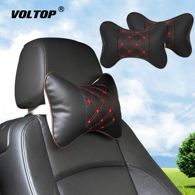 Car Cushion Back Pillow Seat Head Neck Rest Cushion Pillow Headrest Pad for Ford Bm Toyota Neck Auto Safety Supports-in Seat Supports from Automobiles & Motorcycles