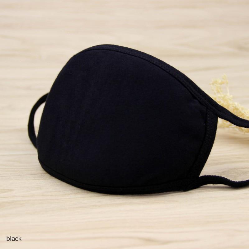 Милая хлопковая маска с героями мультфильмов; праздничные вечерние респираторы; теплая хлопковая маска с милым медведем; камуфляжная маска с защитой от пыли; Муфельная респирато - Цвет: Черный