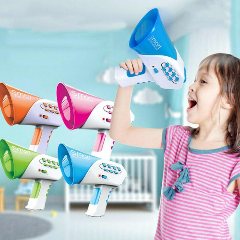 Children's Voice Changer Toys Creative Multi-channel Handheld Loudspeaker Multifunction Kids Puzzle Sound Changer Toy