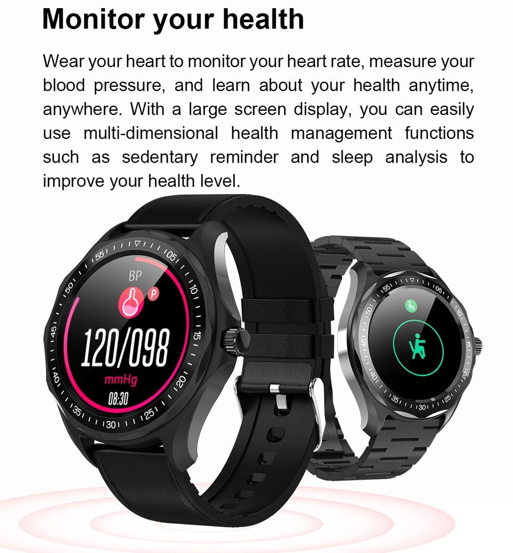 Reloj inteligente SENBONO S09 IP68 para hombre, Monitor de ritmo cardíaco, presión arterial, rastreador de Fitness, GPS, mapa, reloj inteligente para Android iOS