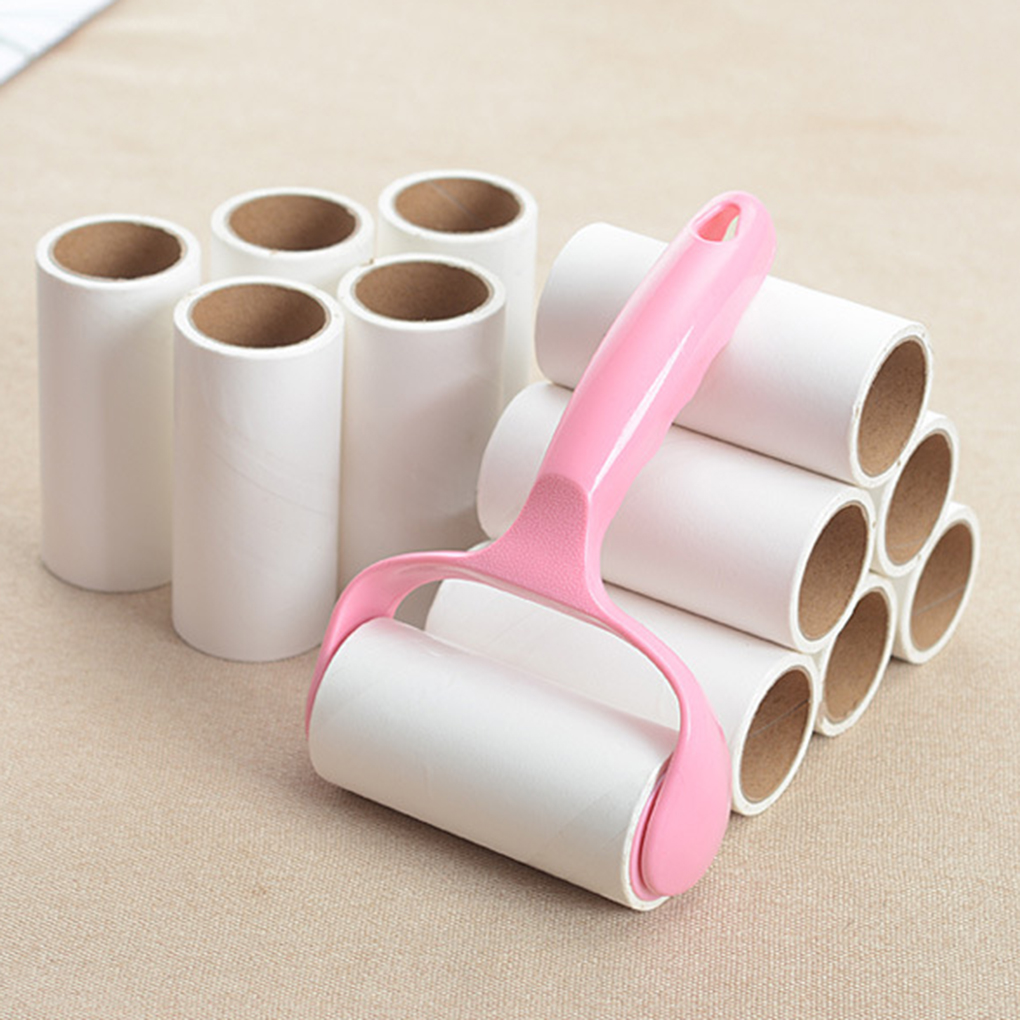 Lint Rollers Pet Hair Remover Lint Remover Dust Roller Clothes Carpet Sticky 10cm Roll Brush Kit