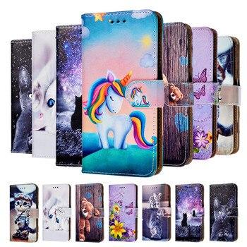 Перейти на Алиэкспресс и купить Кожаный чехол-кошелек для Huawei Y6 2017, чехол Huawei Mya-L41, флип-чехол для Huawei Y6 2017 Y 6 Mya-L41 Mya-L11 Mya L41, задняя крышка