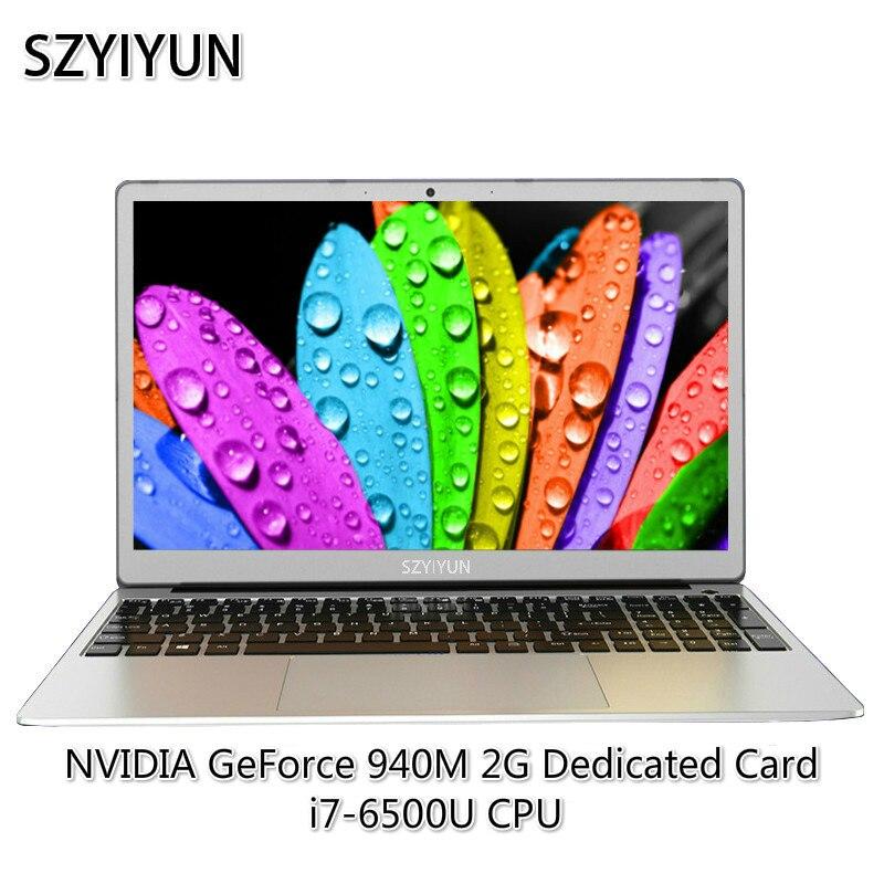 15.6 pouces i7-6500U 2G carte vidéo jeu ordinateur portable russe Laser rétro-éclairé clavier Netbook 16G RAM Intel ordinateur portable