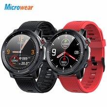 """חדש Microwear L15 חכם שעון גברים IP68 עמיד למים smartWatch אק""""ג PPG לחץ דם קצב לב ספורט כושר Smartwatch"""