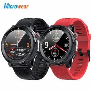 Image 1 - 新しい microwear L15 スマートウォッチの男性 IP68 防水スマートウォッチ ecg ppg 血圧心拍数スポーツフィットネススマートウォッチ