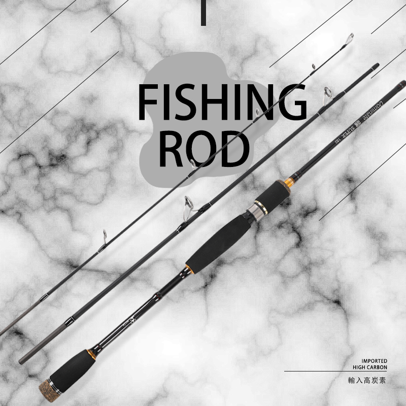 Carbon Spinning Fishing Rod 1.8m 2.1m 2.4m 2.7m 3/4 Section Casting Fishing Rod Feeder Travel Ultra Light Fiber Portable Rod