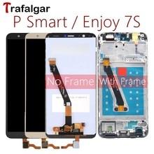 Трафальгар дисплей для Huawei P Смарт ЖК дисплей дигитайзер сенсорный экран для Huawei P смарт дисплей с рамкой рис LX1 L21 L22