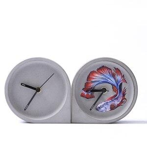 Цементные бетонные часы для спальни, форма для самостоятельного украшения офиса, силиконовая форма для изготовления бетона